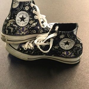 Converse Patterned High Tops size 7